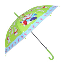 Auto Open Rabbit Printing Green Children Umbrella (SK-02)